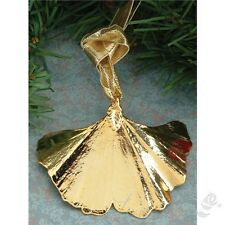 New 24K Gold Dipped *  Real Ginkgo Leaf  * Pendant Natural Jewelry in a Gift Box