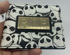 Nightmare Before Christmas Jack Skellington Faux Leather Bifold Wallet R.I.P.