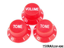 *NEW CONTROL KNOBS for Fender Standard Stratocaster Strat Guitar Parts Red