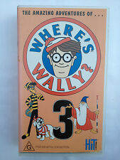 THE AMAZING ADVENTURES OF WHERE'S WALLY? ~ VOLUME THREE - 3 ~ RARE VHS VIDEO