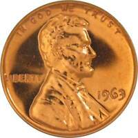 1963 1c Lincoln Memorial Cent Penny US Coin Choice Proof