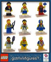 LEGO® Olympic TEAM GB series SET OF 9 RARE minifigures BRAND NEW minifigs 8909
