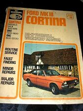 FORD MK III CORTINA DO IT YOURSELF WORKSHOP MANUAL 1977 236 PAGES