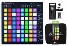Novation LAUNCHPAD S MK2 MKII MIDI USB RGB Controller Pad+Mic+Case+Cable+Sleeve