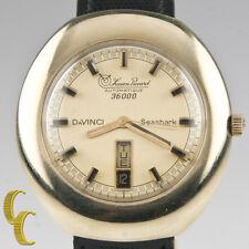 Lucien Piccard 14k Yellow Gold Automatique 36000 Da Vinci Men's Watch Day/Date