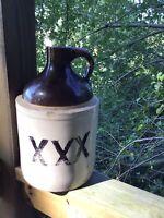 Antique Whiskey Moonshine XXX Stoneware Jug/ Gallon Crock-WhiteLightnin'