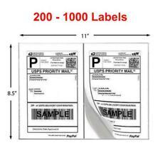 200 1000 Shipping Labels 85 X 55 Half Sheets Adhesive 2 Per Sheet 85 X 11