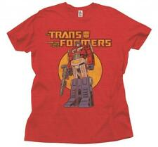Adult Heather Red Junk Food Classic Show Transformers Optimus Prime T-Shirt Tee