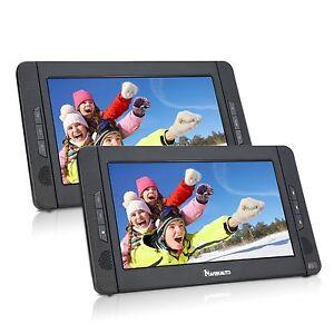 "Naviskauto 10.1"" Dual Screen Ultra Thin Portable TFT HD DVD Player Car Headrest"