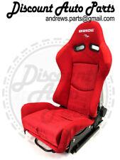 PAIR BRIDE GIAS RED GRADATION V1 FRP Backing Low Max JDM Seat w/sliders DRIFT