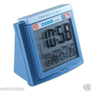 Casio TRAVEL DQ-750F-2 (BLUE)TEMPERATURE LIGHT alarm clock Snooze FREE SHIPPING