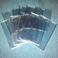 10 Pcs Heavy Duty Clear Plastic ID Badge Name Business Card Holders