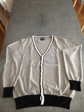 Cardigan pull gilet homme gris Serge Blanco taille M