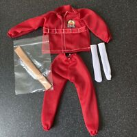 Six Million Dollar Man Bionic Bundle New Red Tracksuit Outfit Arm Skin & Socks
