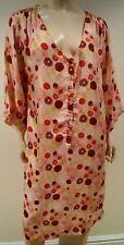 Jour BIRGER ET MIKKELSEN Rose & Multi Couleur Polka Dot Imprimé Col V Robe d'été