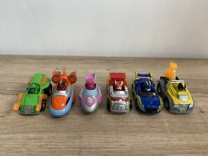 Paw Patrol Super Paws Die-Cars Racer Cars Complete Set Of X6 In Ex Cond