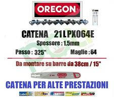 CATENA MOTOSEGA OREGON 21LPX064E PASSO .325  SPESSORE 1,5mm  64 MAGLIE
