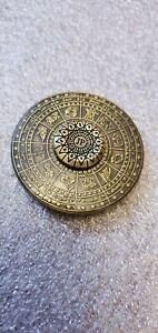 Vintage Egyptian Twelve Costellation Zodiac Hand Fidget Spinner Brass Collectibl