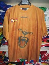Maillot barre LION UHLSPORT porté n°9 football marron shirt M / L