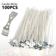"100pcs Candle Wicks 6"" Wicks For Candles Low Smoke Candle Making Supplies Us"