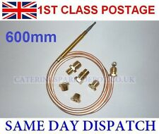 UNIVERSAL THERMOCOUPLE 600MM LONG WITH THREADED END - FREE POSTAGE
