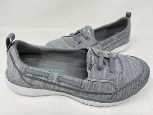 NEW! Skechers Women's MICROBURST WHAT A CHARM Slip On Shoes Gray #23583 197M z