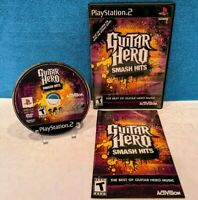 Guitar Hero: Smash Hits (Sony PlayStation 2, 2009) with Manual - Tested/Working