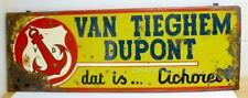 More details for huge antique sign -van tieghem dupont chicory flanders -very rare