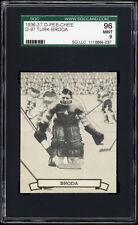 1936-37 V304 O-Pee-Chee Series D #97 Turk Broda (HOF) Rookie Card SGC 96 MINT