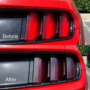 2015 - 2019 Ford Mustang Tail Light Tint Pre-Cut Overlay SMOKE
