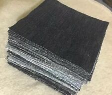 "100 Pack 5"" Squares Denim All Blue Jeans Rag Quilt Kit Rotary Cut Upcycled"