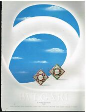 Publicité Advertising 1990 Les Bijoux BULGARI