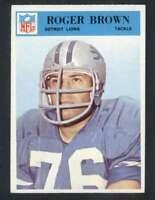 1966 Philadelphia #67 Roger Brown NM/NM+ Lions 66618