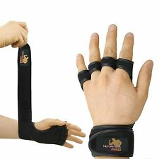 GYM WEIGHT LIFTING GLOVES FITNESS Neoprene Wrist Support Straps Size fits M/L
