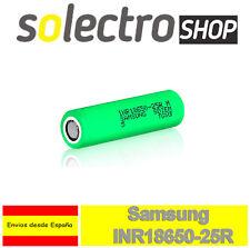 PILA RECARGABLE Samsung INR 18650 2500mAh Li-ion 3,7V 20A Litio Batería Sin PP30