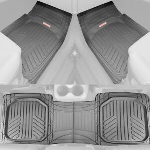 Motor Trend Deep Dish Rubber Car Floor Mats All Weather Spill-Capturing - Gray