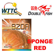 Double Fish 820A Medium Pips-Out Rubber With Sponge RED