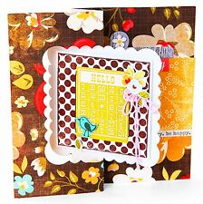 Sizzix Scallop Square Flip-Its Card #658842 Movers L Base die Retail 29.99 WOW!!