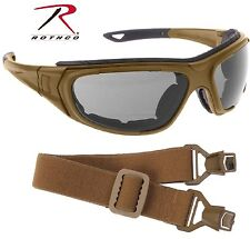 Coyote Brown Interchangeable Sunglasses to Goggles Tactical Optical System