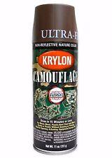 Krylon Fusion Plastic Paint 340gm - CAMOUFLAGE ULTRA FLAT BROWN - AUS Seller