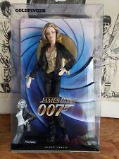 James Bond 007 Girls Goldfinger Pussy Galore Black Label Barbie Doll Mattel