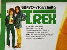 T.Rex - Marc Bolan / Mickey Finn BRAVO Starschnitt 1972