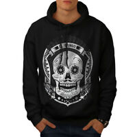 Wellcoda Mexican Skull Death Mens Hoodie, Evil Casual Hooded Sweatshirt