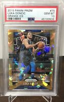 2019-20 LUKA DONCIC MAVERICKS PANINI PRIZM ORANGE ICE PSA 10 GEM MINT #75