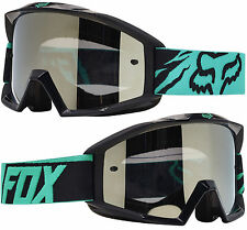 FOX MAIN MOTOCROSS MX GOGGLES GREEN BLACK SPARK MIRROR tear-off enduro mtb