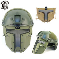 Tactical Metal Mesh Full Face Mask Sparta Paintball AF Helmet Cover Airsoft CB