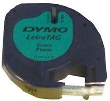 Dymo 12mm LETRATAG etiqueta de cinta ácido plástico verde 4m