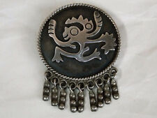 Vintage MARICELA 950 Silver PIN BROOCH Taxco Unsigned