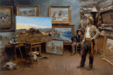 Russell Paints A Masterpiece by Andy Thomas Western Print 17x12