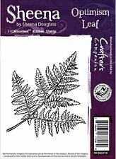 OPTIMISM LEAF Cling Unmounted Rubber Stamp SHEENA DOUGLASS SD-OLEAF-IS New